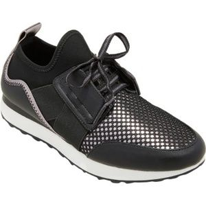 Women's Deena Lace Up Sneakers - A New Day™ Black